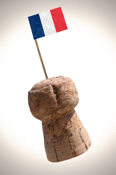 Cтоковое фото Champagne cork stopper  Product of France