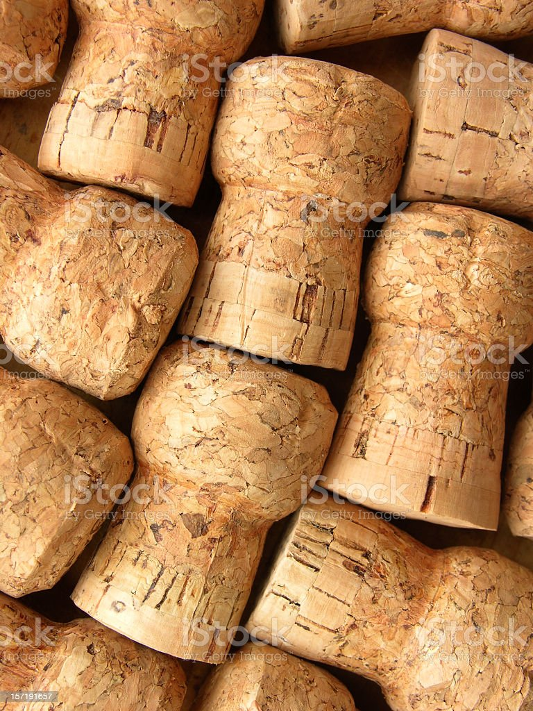 Champagne corks background royalty-free stock photo