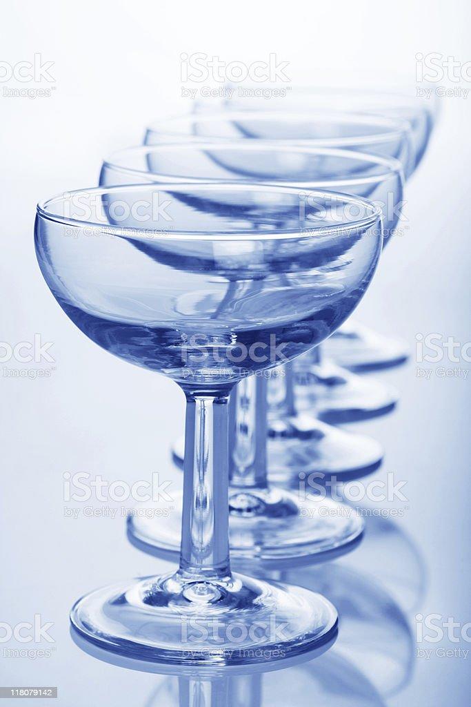 champagne coupe glasses stock photo