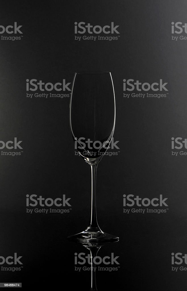 Champagne Crystal Wine Glass royalty-free stock photo