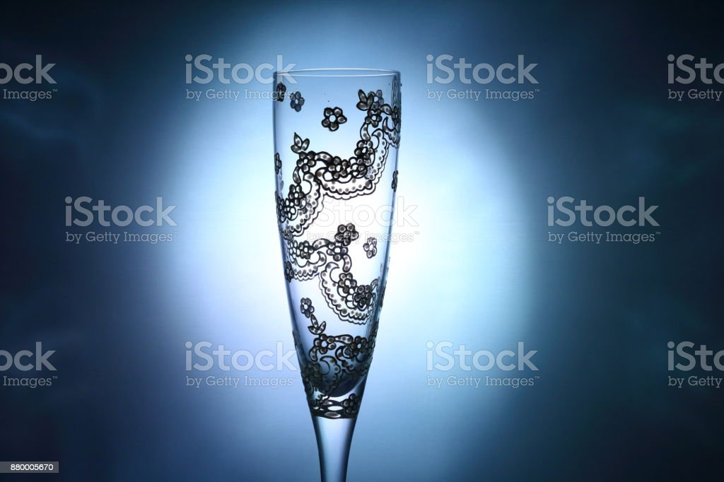 Champagne cup stock photo