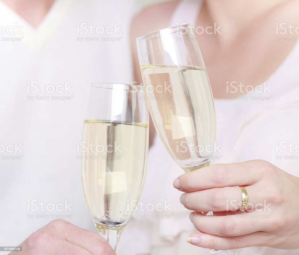champagne drinking couple royalty-free stock photo