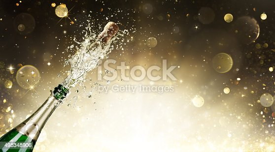 istock Champagne Explosion - Celebration New Year 495348906