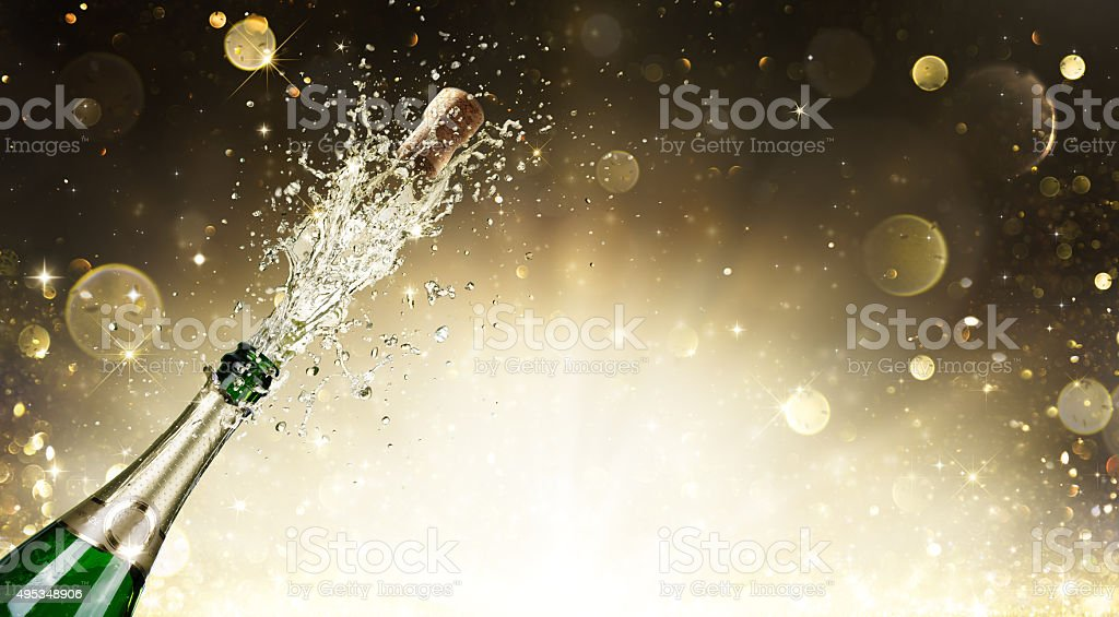 Explosion de Champagne à la fête du Nouvel An - Photo