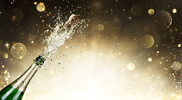 Champagne Explosion - Celebration New Year stock photo