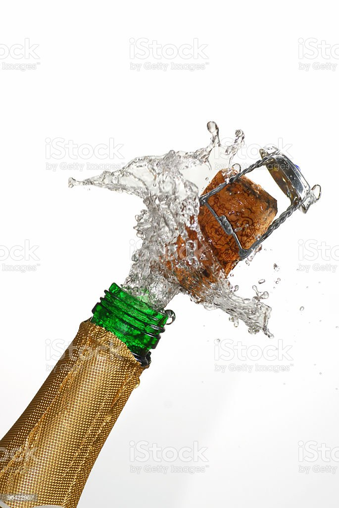 Champagne Explosion royalty-free stock photo