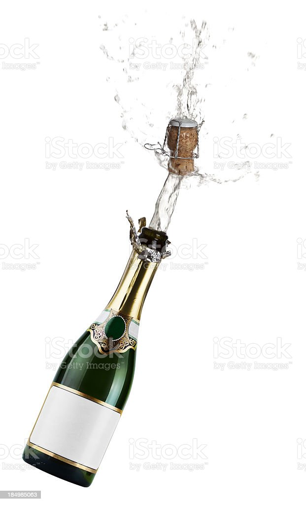 Champagne Exsplosion stock photo
