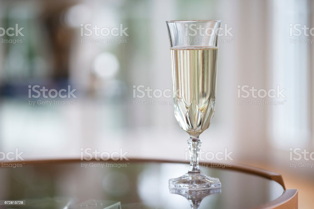 Champagne flute crystal stock photo