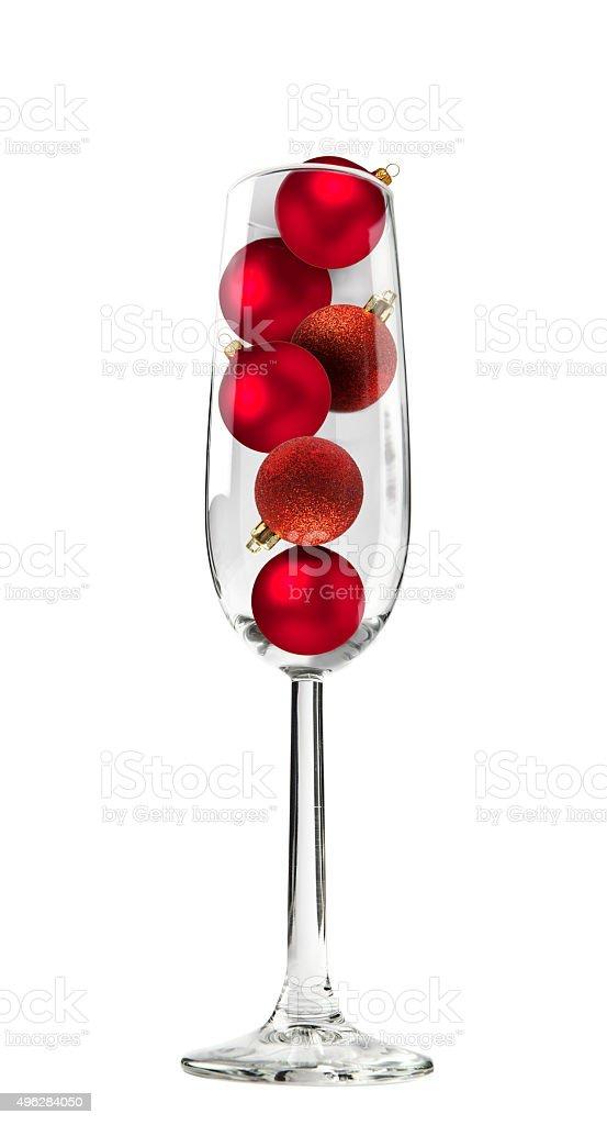 Christbaumkugeln Champagner Glas.Champagnerglas Mit Christbaumkugeln Stockfoto Und Mehr Bilder Von