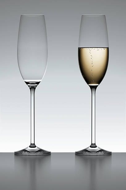 Champagne Flutes in Backlight stock photo