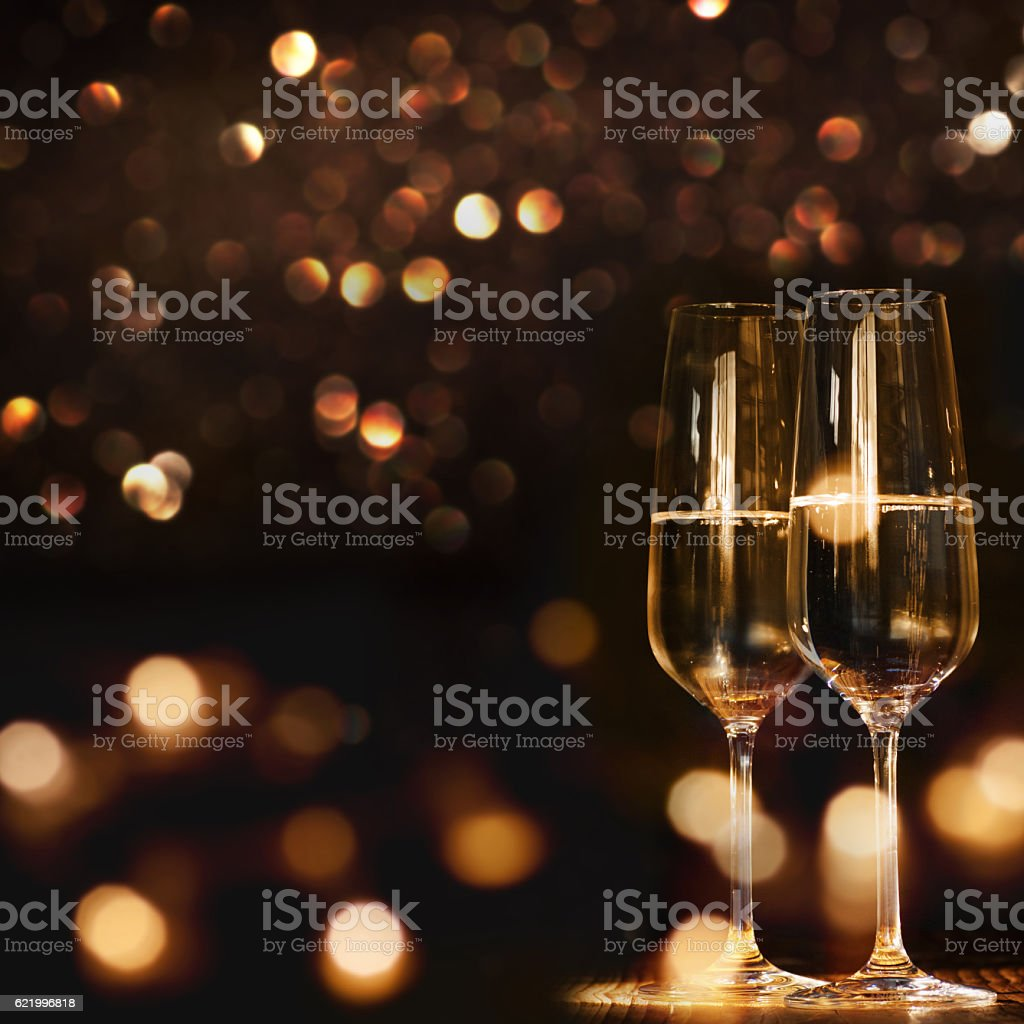 Champagne for a new year stock photo