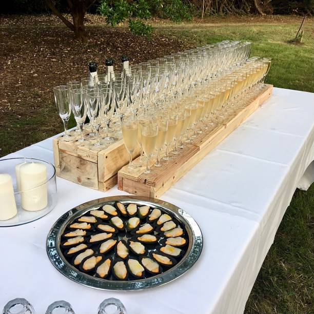 Champagne for all. stock photo