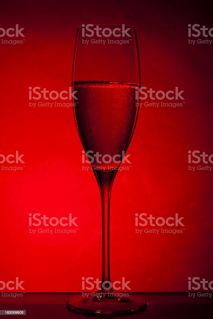 Champagne for One on Valentine's day royalty-free stock photo