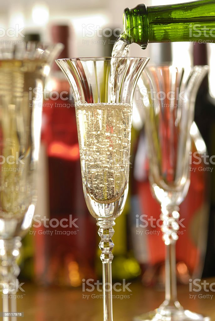 champagne pour royalty-free stock photo