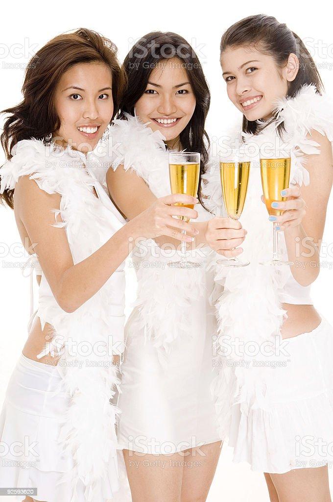 Champagne Girls #1 royalty-free stock photo