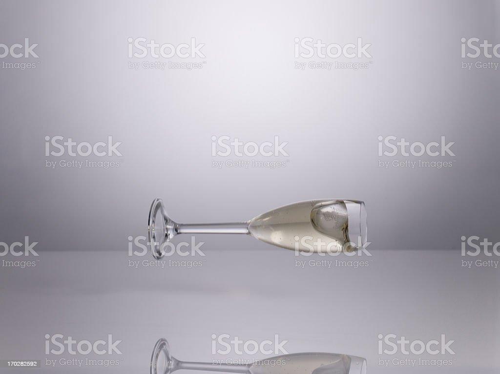 Champagne glass stock photo