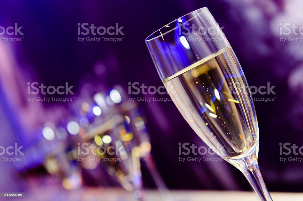 Champagne glass stock photo