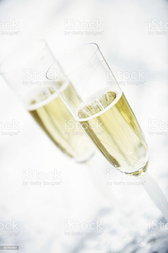 Champagne Glass Vertical Portrait royalty-free stock photo