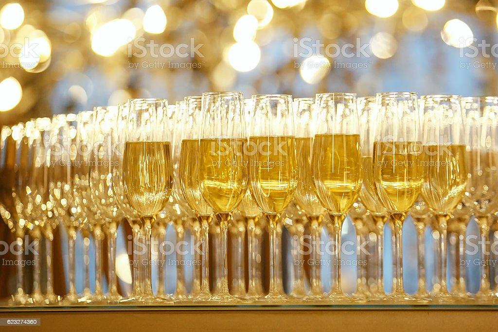 Champagne glasses. Concept picture. Selective focus. – Foto