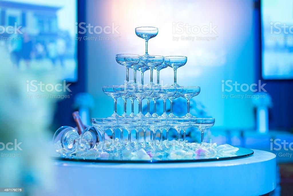 Champagner-Gläser in Hochzeitszeremonie, Tower of Champagner-Gläser – Foto