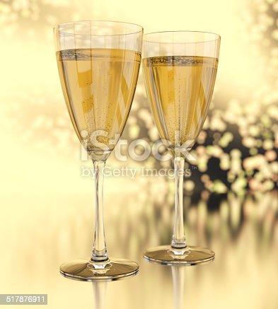 istock Champagne glasses 517876911