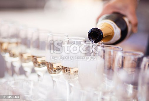 istock Champagne glasses 621352004