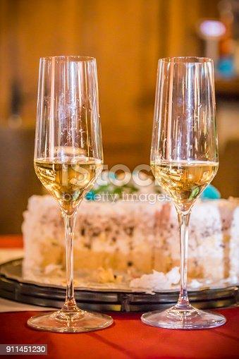 istock Champagne glasses 911451230