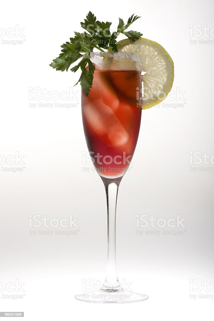 champagne glasses with lemon royalty-free stock photo