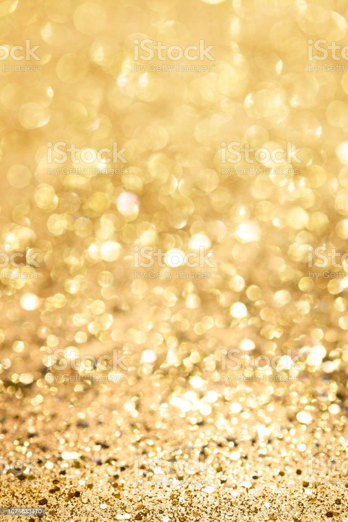 Champagne Gold Glitter Background stock photo