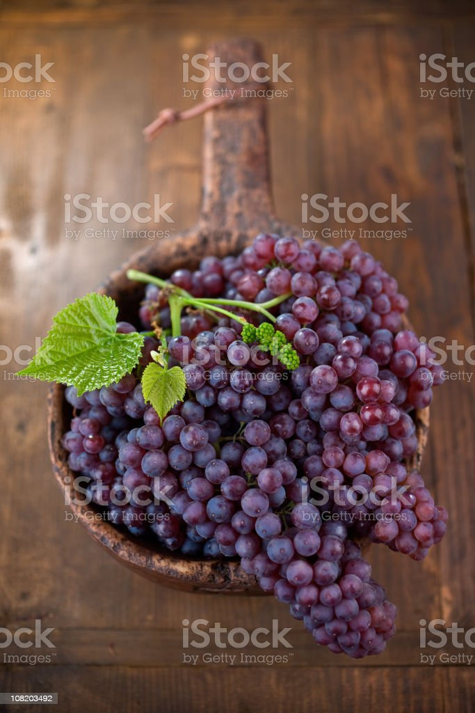 Champagne Grapes in Bowl royalty-free stock photo