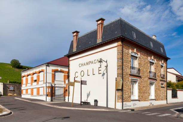 Champagne house Collet in A stock photo