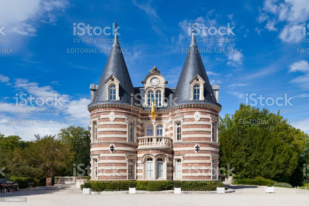 Champagne house Comtesse Lafond in Epernay Epernay, France - July 23 2020: The Champagne house Comtesse Lafond is located on 79 Avenue de Champagne, far from the other houses close to the town hall. Architecture Stock Photo