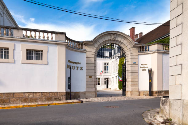 Champagne house Deutz in A stock photo