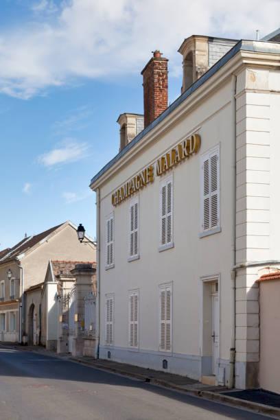 Champagne house Malard in A stock photo
