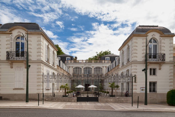 Champagne house Moet - Chandon in Epernay stock photo
