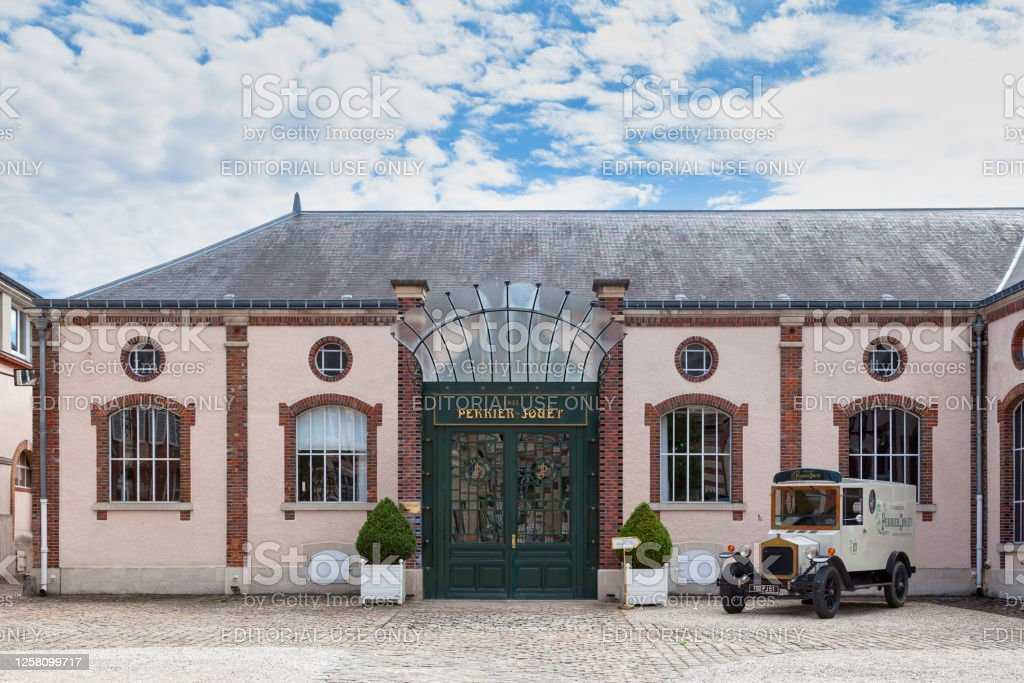 Champagne house Perrier-Jouet in Epernay Epernay, France - July 23 2020: The Champagne house Perrier-Jouët located on Avenue de Champagne, near the town hall. Architecture Stock Photo