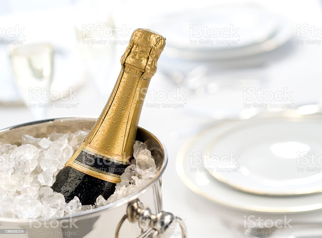 Champagne in Bucket royalty-free stock photo
