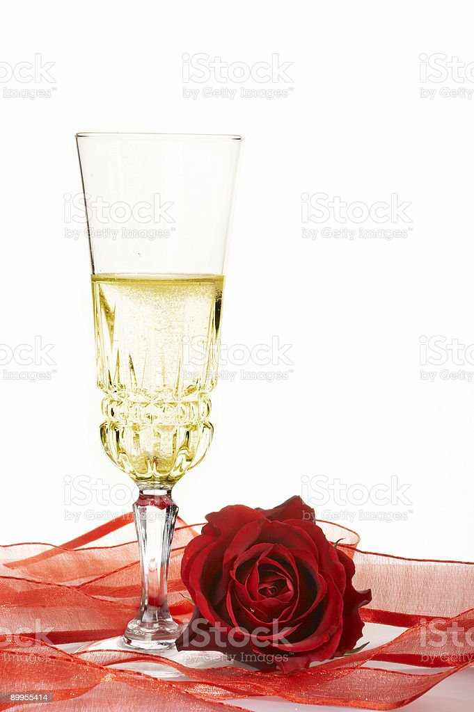 Champagne in glass royalty-free stock photo