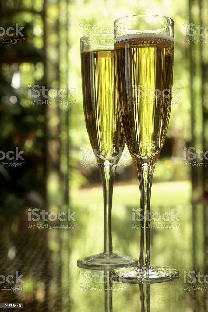Champagne in Glasses royalty-free stock photo
