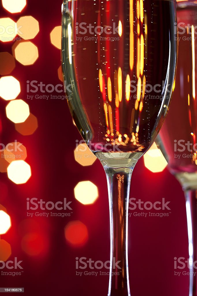 Champagne in the glass royalty-free stock photo