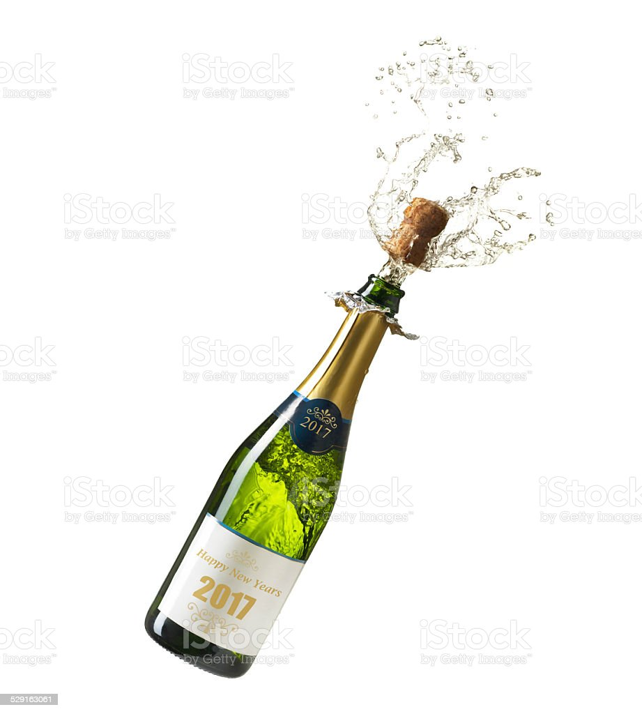 Champagne New Years 2017 stock photo