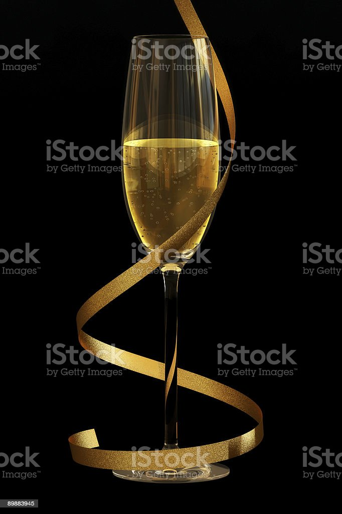 Champagne on Black royalty-free stock photo
