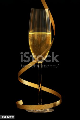 istock Champagne on Black 89883945
