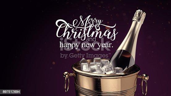 istock Champagne on ice bucket. 897512694
