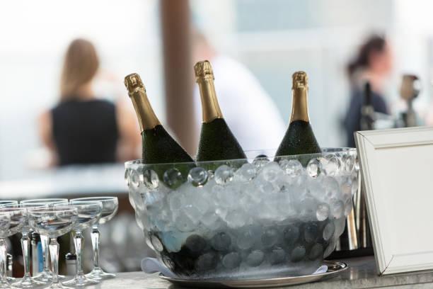 Champagner auf Eis – Foto