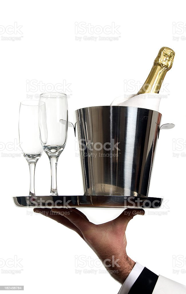 Champagne on ice royalty-free stock photo