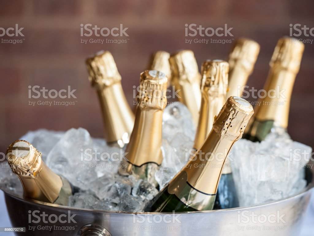 Champagne on Ice stock photo