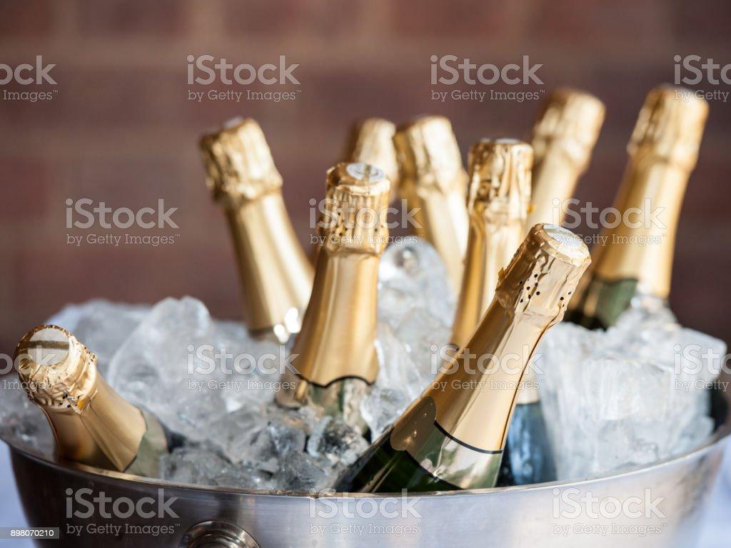 Champanhe no gelo - foto de acervo