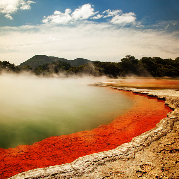 Champagne Pool Landscape  rotorua stock pictures, royalty-free photos & images