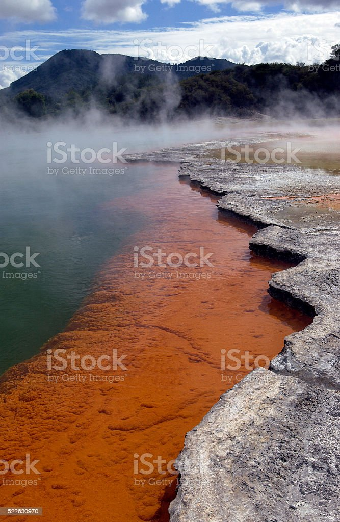Champagne Pool - New Zealand stock photo